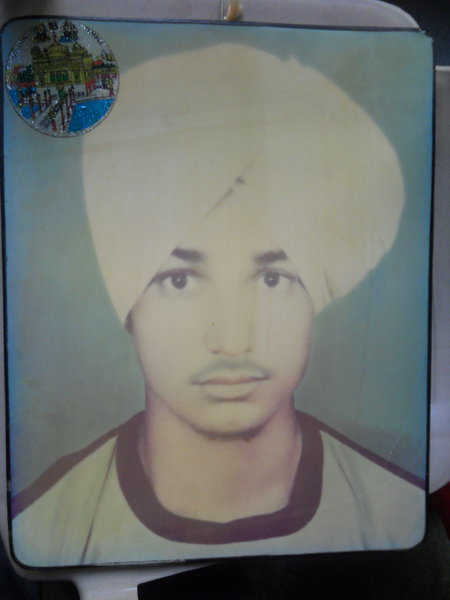 Photo of Dalbinder Singh, victim of extrajudicial execution on November 16, 1988, in Jalandhar, by Punjab Police