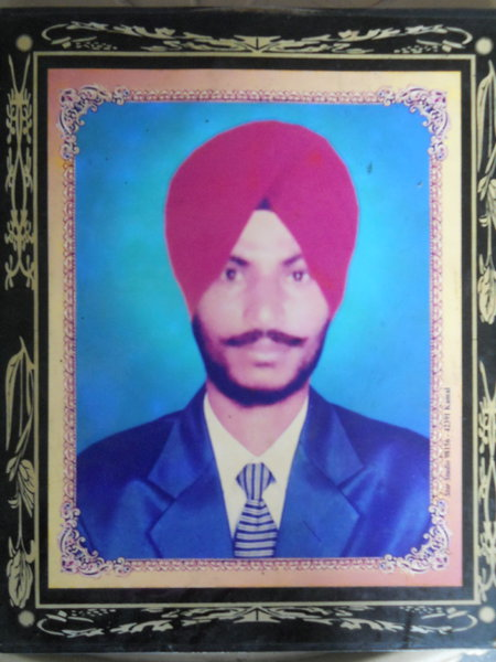 Photo of Kuldeep Singh, victim of extrajudicial execution on February 16, 1989, in Nakodar, by Punjab Police