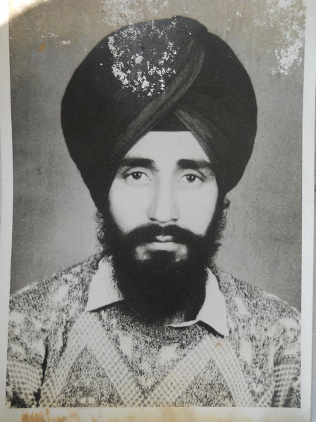 Photo of Harmail Singh, victim of extrajudicial execution on October 21, 1988, in Jalandhar, by Punjab Police
