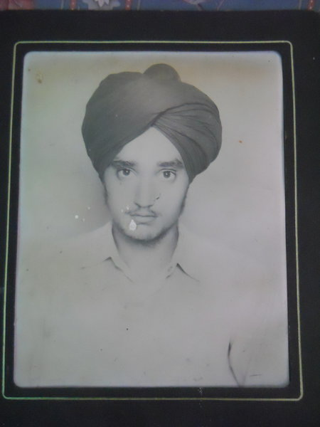 Photo of Kulwinder Singh, victim of extrajudicial execution on August 8, 1988, in Goraya, Kapurthala, by Punjab Police