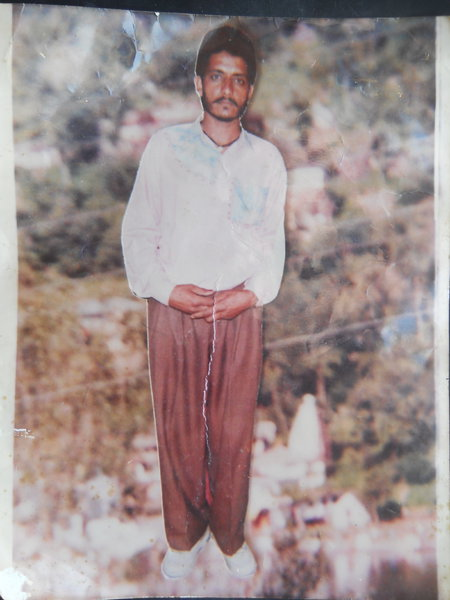 Photo of Mahinder Singh, victim of extrajudicial execution between April 1, 1996 and April 5,  1996, in Sidhwan,  by Criminal Investigation Agency, in Jagraon, by Criminal Investigation Agency