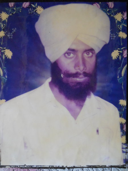 Photo of Balwinder Singh, victim of extrajudicial execution between June 1, 1987 and June 15,  1987, in Jaitu, by Punjab Police
