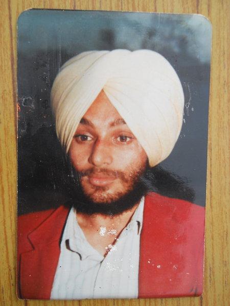Photo of Nirmal Singh, victim of extrajudicial execution between June 9, 1991 and June 10,  1991, in Shahkot, by Punjab Police