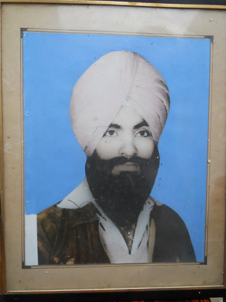 Photo of Rashpal Singh, victim of extrajudicial execution between March 1, 1986 and April 15,  1986, in Jalandhar, by Punjab Police