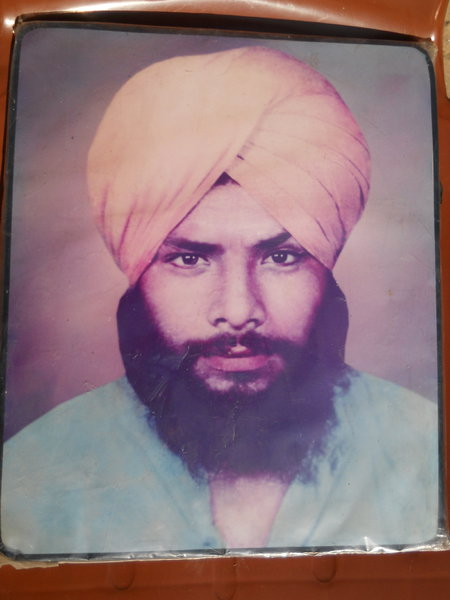 Photo of Harminder Singh, victim of extrajudicial execution on May 31, 1987, in Jaitu, by Punjab Police