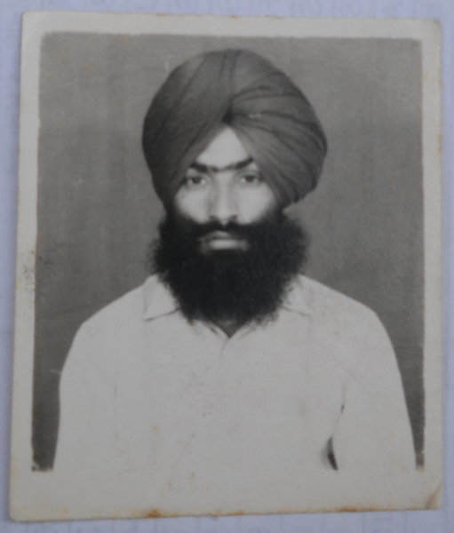 Photo of Gurdeep Singh, victim of extrajudicial execution on February 01, 1993, in Kairon, by Punjab Police