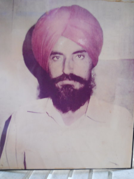 Photo of Joginder Singh, victim of extrajudicial execution on June 22, 1986, in Shahkot CRPF Camp, by Central Reserve Police Force