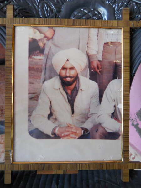 Photo of Gurcharan Singh, victim of extrajudicial execution on May 17, 1989, in Jalandhar, by Punjab Police