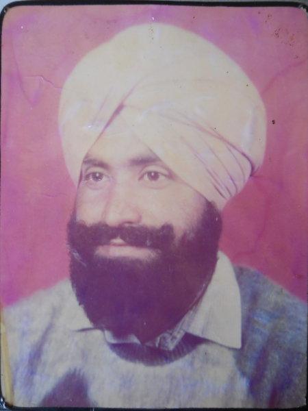 Photo of Satnam Singh, victim of extrajudicial execution between November 10, 1989 and November 11,  1989, in Nurmahal, by Punjab Police