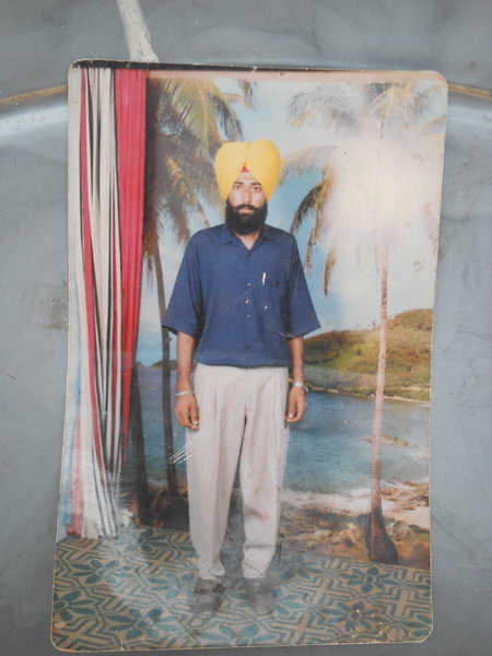 Photo of Gurpal Singh, victim of extrajudicial execution on March 14, 1992, in New Delhi 32nd Battalion CRPF Camp,  by Central Reserve Police Force, in New Delhi 32nd Battalion CRPF Camp, by Central Reserve Police Force