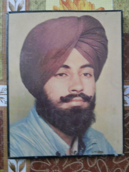 Photo of Sodhi Singh, victim of extrajudicial execution on September 21, 1989, in Goraya, by Punjab Police; Central Reserve Police Force