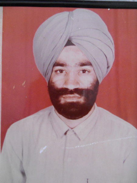 Photo of Palwinder Singh, victim of extrajudicial execution on February 18, 1990, in Jalandhar CIA Staff,  by Black cat, in Jalandhar, by Criminal Investigation Agency