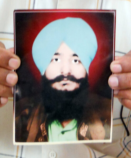 Photo of Kulwant Singh, victim of extrajudicial execution on May 24, 1986, in Sultanwind,  by Punjab Police; Central Reserve Police Force, in Sultanwind, by Punjab Police