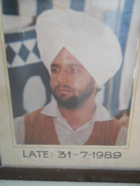 Photo of Surinder Singh, victim of extrajudicial execution on July 31, 1989, in Amritsar, by Central Reserve Police Force