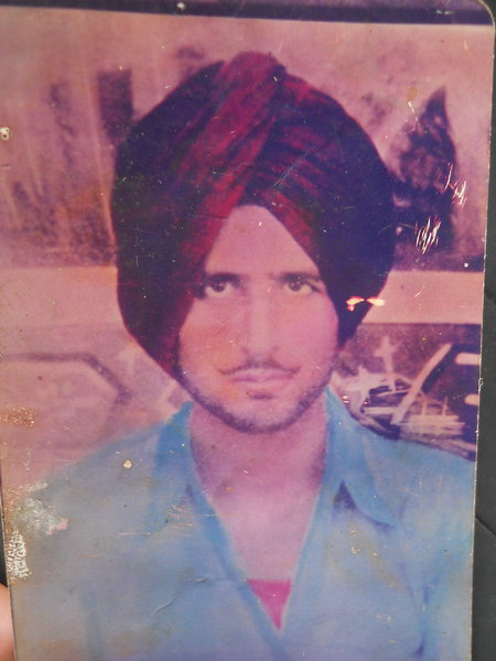 Photo of Joginder Singh, victim of extrajudicial execution between August 4, 1988 and August 5,  1988, in Bhulath,  by Punjab Police; Central Reserve Police Force, in Bhulath, by Punjab Police