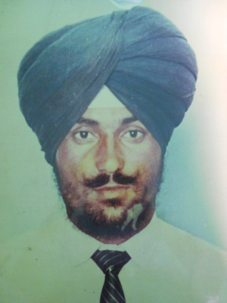 Photo of Dhandev Singh, victim of extrajudicial execution on July 10, 1989, in Bhulath, by Punjab Police