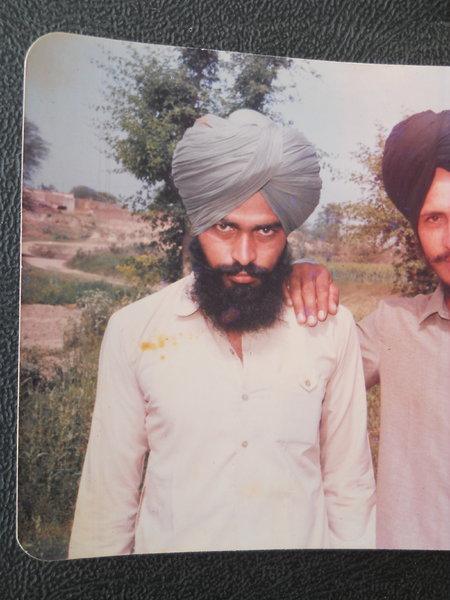 Photo of Sukhdev Singh, victim of extrajudicial execution on July 16, 1990, in Kapurthala, by Punjab Police