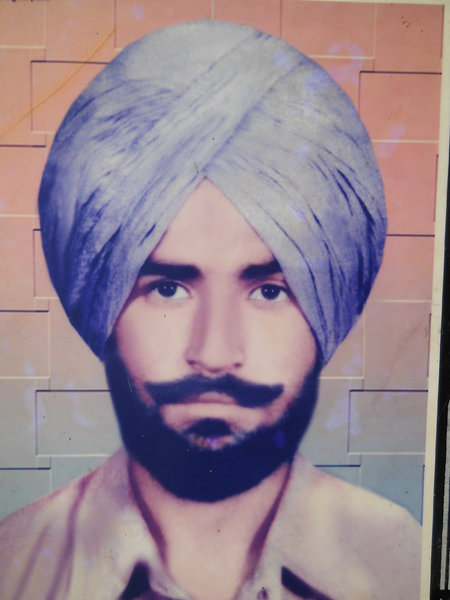 Photo of Jagtar Singh, victim of extrajudicial execution between January 1, 1988 and February 10,  1988, in Kapurthala, by Punjab Police; Criminal Investigation Agency