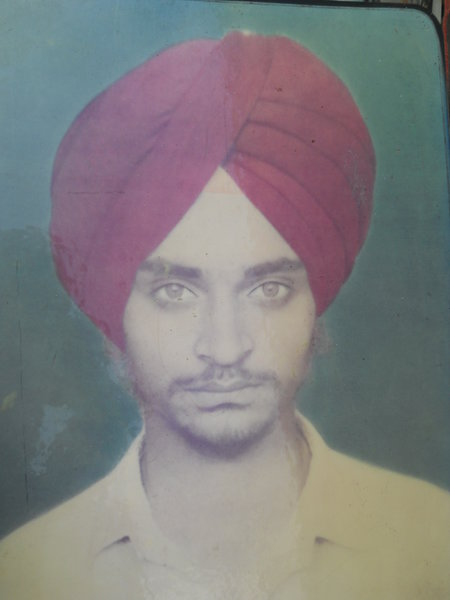 Photo of Daljit Singh, victim of extrajudicial execution on August 08, 1991, in Gharinda,  by Punjab Police; Central Reserve Police Force, in Chheharta Sahib, Majitha, by Punjab Police