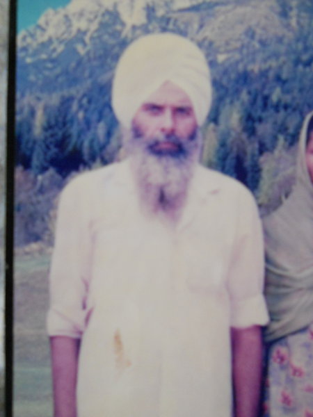 Photo of Swaran Singh, victim of extrajudicial execution between July 30, 1993 and August 8,  1993, in Khemkaran, by Punjab Police