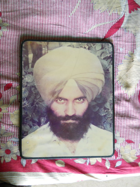 Photo of Raghbir Singh, victim of extrajudicial execution on July 31, 1987, in Nakodar, by Punjab Police