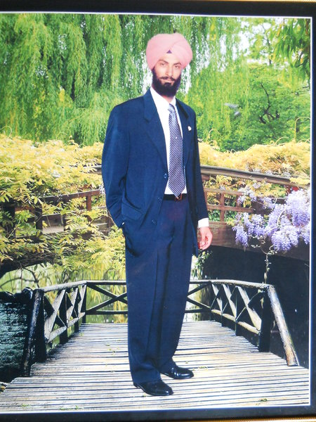 Photo of Dalbir Singh, victim of extrajudicial execution on August 26, 1990, in Jhabal Kalan, by Punjab Police