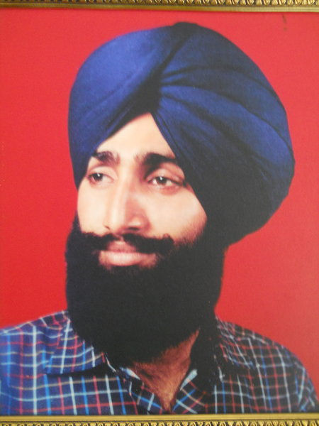 Photo of Kulwinder Singh, victim of extrajudicial execution on July 22, 1989, in Patiala CIA Staff,  by Punjab Police; Criminal Investigation Agency, in Patiala, by Punjab Police; Criminal Investigation Agency