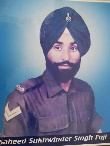 Photo of Sukhwinder Singh, victim of extrajudicial execution between September 15, 1991 and September 30,  1991, in Bhulath, by Punjab Police