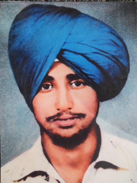 Photo of Jarnail Singh, victim of extrajudicial execution on June 14, 1987Punjab Police