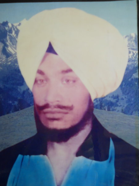 Photo of Swaran Singh, victim of extrajudicial execution on September 15, 1990, in Jalandhar,  by Punjab Police; Central Reserve Police Force, in Nakodar, by Punjab Police