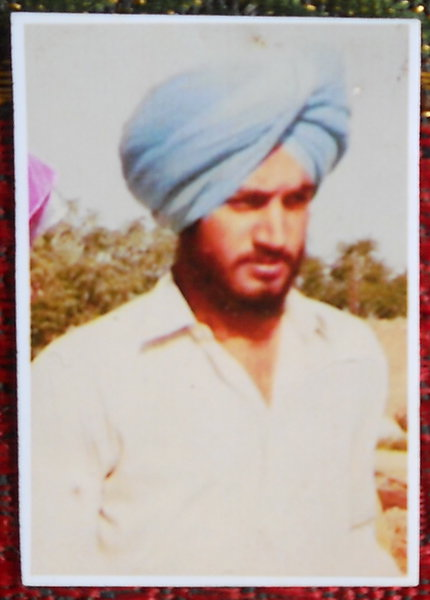 Photo of Kuldeep Singh Dhillon, victim of extrajudicial execution between April 11, 1989 and April 12,  1989, in Ludhiana, by Punjab Police