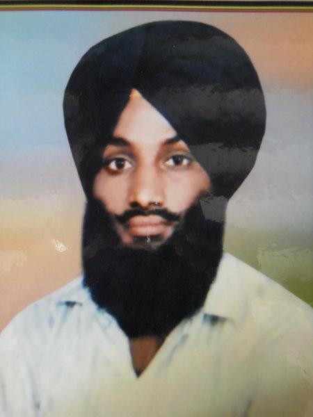 Photo of Kulwinder Singh, victim of extrajudicial execution on September 23, 1993Punjab Police