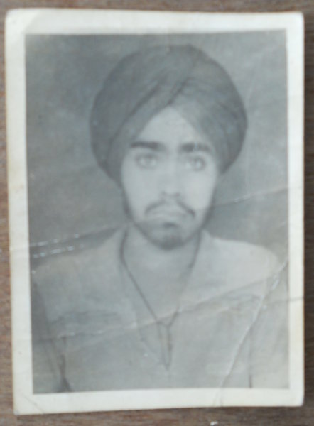 Photo of Satnaam Singh, victim of extrajudicial execution on March 26, 1986Punjab Police