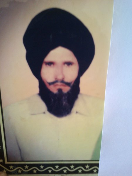 Photo of Raj Singh, victim of extrajudicial execution between July 15, 1989 and August 16,  1989, in Sultanpur, by Punjab Police
