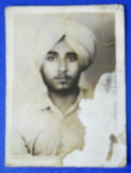 Photo of Balkar Singh, victim of extrajudicial execution between November 24, 1991 and November 27,  1991, in Kapurthala, by Punjab Police