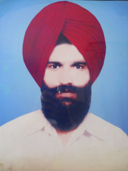 Photo of Shamsher Singh, victim of extrajudicial execution on April 11, 1988, in Kapurthala, by Central Reserve Police Force