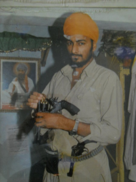 Photo of Kulwinder Singh, victim of extrajudicial execution on September 17, 1987, in Amritsar, by Central Reserve Police Force