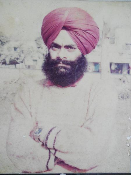Photo of Balveer Singh, victim of extrajudicial execution on May 30, 1993, in Rangar Nangal, by Punjab Police