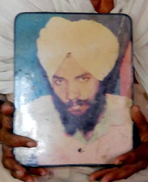 Photo of Palwinder Singh, victim of extrajudicial execution on June 15, 1993, in Sultanpur, by Punjab Police