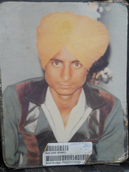 Photo of Surinder Singh,  disappeared between June 15, 1989 and July 15,  1989, in Kapurthala CIA Staff,  by Punjab Police