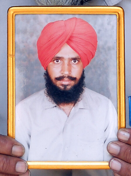 Photo of Jaswant Singh, victim of extrajudicial execution on July 06, 1993, in Khanna, by Punjab Police