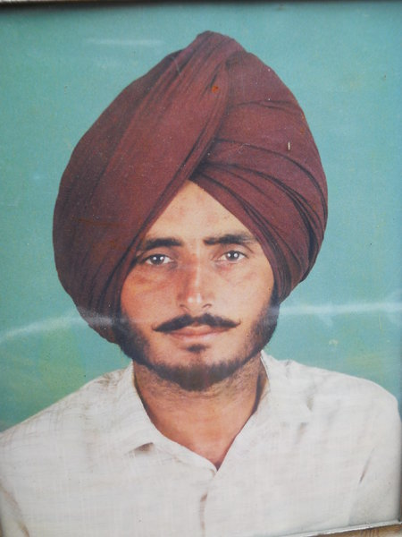 Photo of Avtar Singh, victim of extrajudicial execution on November 7, 1992, in Jagraon, by Punjab Police