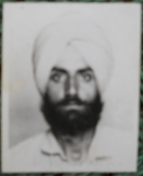 Photo of Harnek Singh, victim of extrajudicial execution on June 16, 1993, in Mehna, by Punjab Police