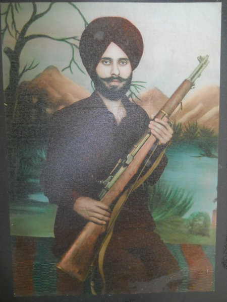 Photo of Dalip Singh, victim of extrajudicial execution on August 15, 1983, in Payal, Ludhiana, Khanna, by Punjab Police