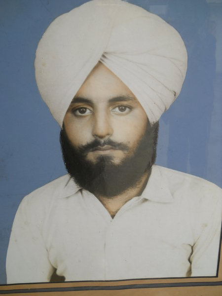 Photo of Sarabjit Singh, victim of extrajudicial execution on May 11, 1988, in Bathinda, Balianwala, by Punjab Police