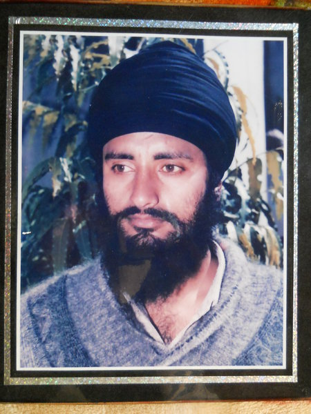 Photo of Jagraj Singh, victim of extrajudicial execution on April 23, 1993, in Nathana, by Punjab Police