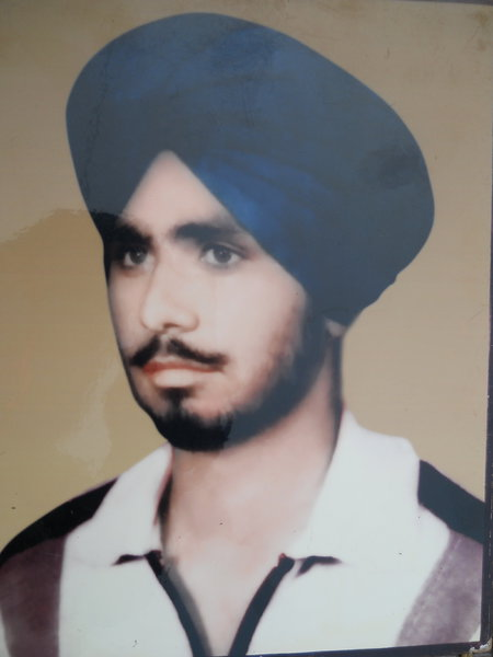 Photo of Pritam Singh, victim of extrajudicial execution between August 23, 1991 and August 25,  1991 by Unknown type of security forces, in Maloud, by Punjab Police