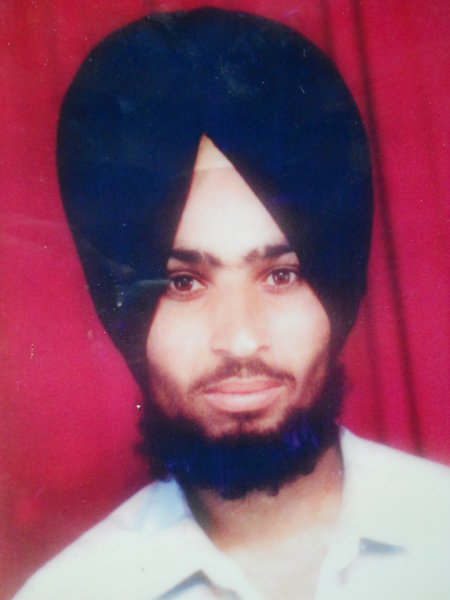Photo of Harjit Singh, victim of extrajudicial execution between October 12, 1993 and October 13,  1993, in Maloud, Saharanpur, Puwayan, by Punjab Police