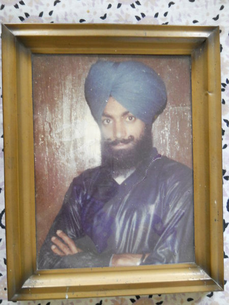Photo of Kulwant Singh, victim of extrajudicial execution on March 27, 1989, in Sherpur,  by Punjab Police; Central Reserve Police Force, in Nabha, by Punjab Police