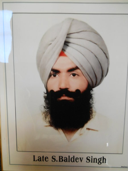 Photo of Baldev Singh, victim of extrajudicial execution on August 10, 1989, in Payal, Dehlon, Ludhiana CIA Staff, by Punjab Police; Criminal Investigation Agency